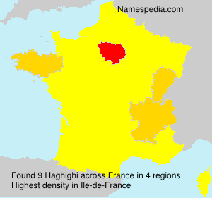 Surname Haghighi in France