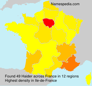 Surname Haider in France
