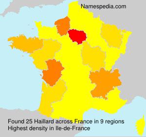 Surname Haillard in France
