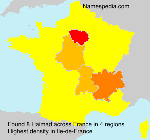Surname Haimad in France