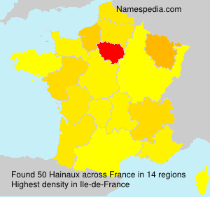 Surname Hainaux in France