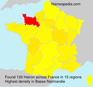 Surname Hairon in France