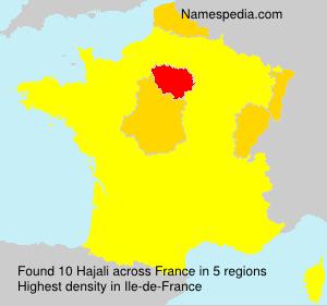 Surname Hajali in France