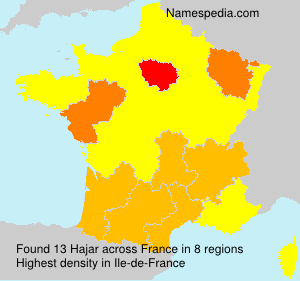 Surname Hajar in France