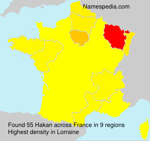 Surname Hakan in France