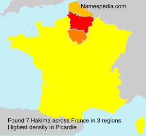 Surname Hakima in France