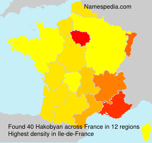 Surname Hakobyan in France
