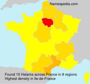 Surname Halama in France