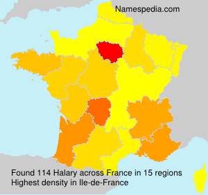 Surname Halary in France