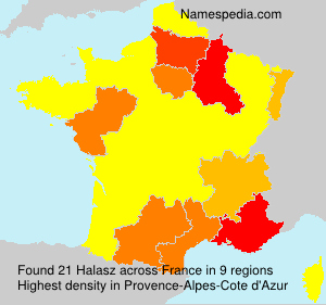 Surname Halasz in France