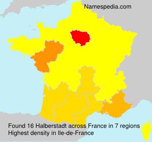 Surname Halberstadt in France