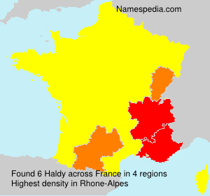 Surname Haldy in France