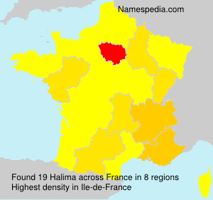 Surname Halima in France