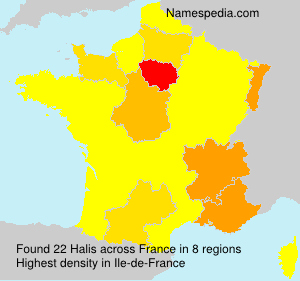 Surname Halis in France
