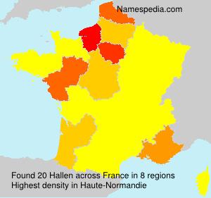 Surname Hallen in France