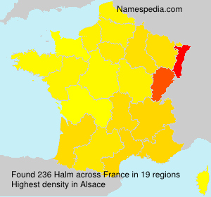 Surname Halm in France