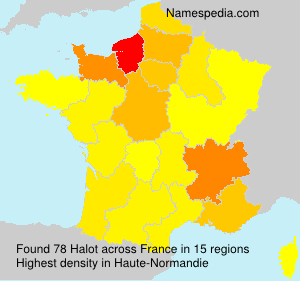 Surname Halot in France