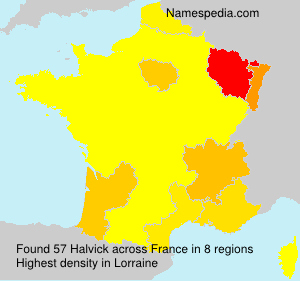 Surname Halvick in France