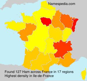 Familiennamen Ham - France