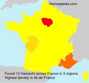 Surname Hamachi in France