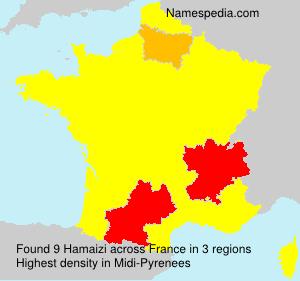 Familiennamen Hamaizi - France