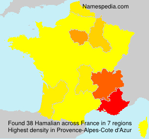 Surname Hamalian in France