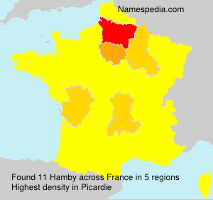 Surname Hamby in France