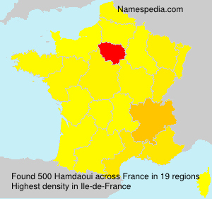 Surname Hamdaoui in France