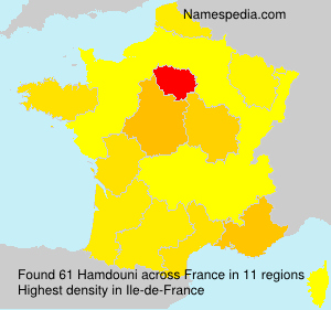 Familiennamen Hamdouni - France