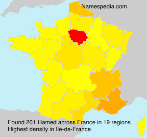 Surname Hamed in France