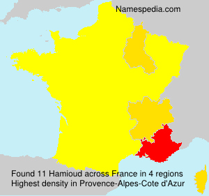 Surname Hamioud in France