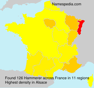 Surname Hammerer in France