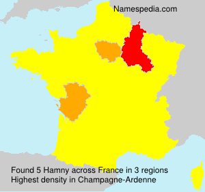 Familiennamen Hamny - France