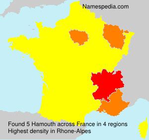 Familiennamen Hamouth - France