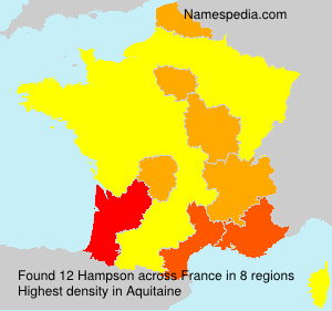 Surname Hampson in France