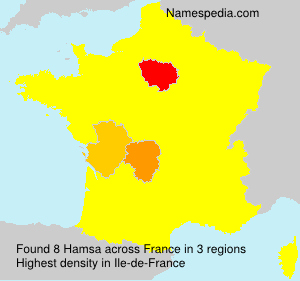 Surname Hamsa in France