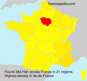 Surname Han in France