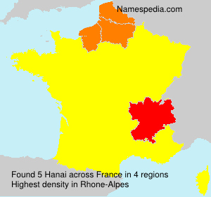 Surname Hanai in France