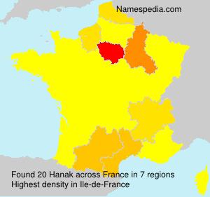 Surname Hanak in France