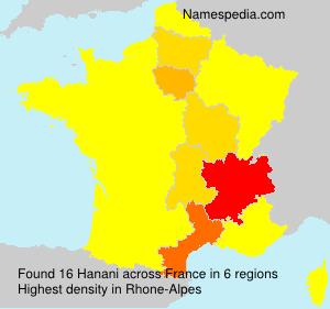 Surname Hanani in France