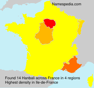 Surname Hanbali in France
