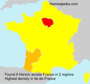 Familiennamen Hanich - France