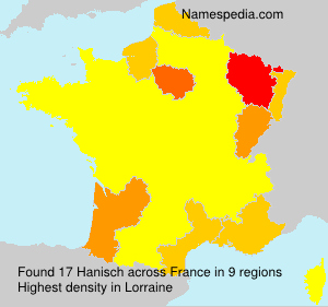 Surname Hanisch in France