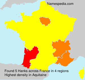 Surname Hanks in France