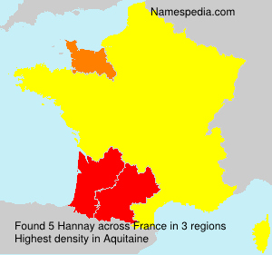 Surname Hannay in France