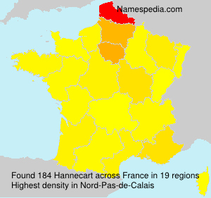 Surname Hannecart in France