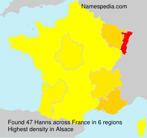 Surname Hanns in France