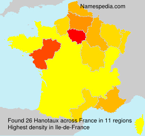 Surname Hanotaux in France