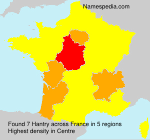 Surname Hantry in France
