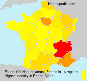 Surname Haoues in France